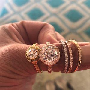 Swarovski ring bundle